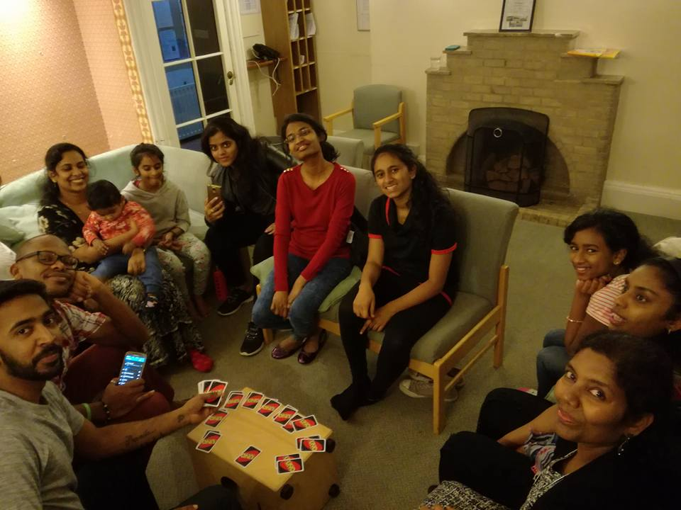 Event photo, group pf people playing board games