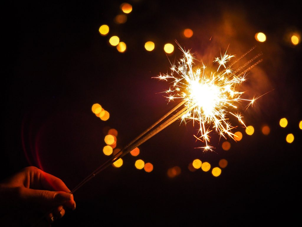 Photo by energepic.com from Pexels - Celebratory sparkler